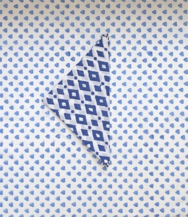 Furoshiki Gift Wrap Cloth In Blue
