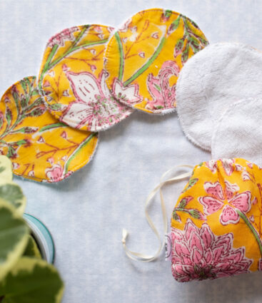 Reusable Face Wipes In Yellow