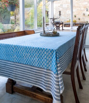 Oni Table Cloth In Blue