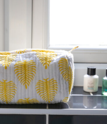 Eki Yellow Fern Wash Bag