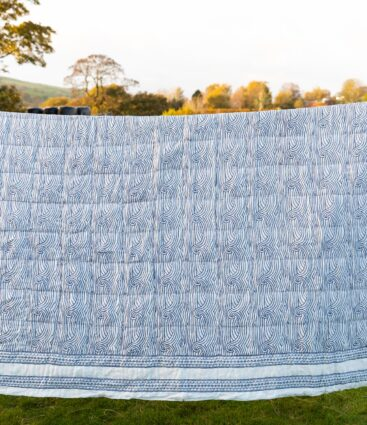 Stormy Quilt In Denim Blue