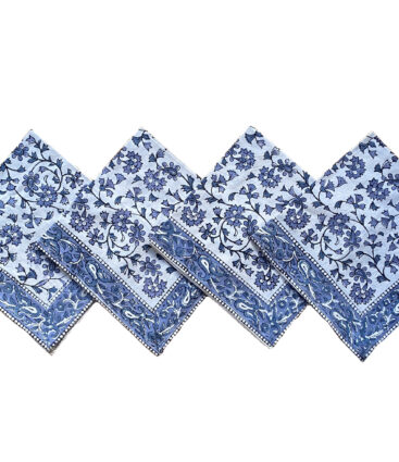 Tediyi Blue Table Napkin – Set Of 4
