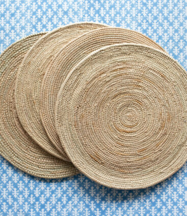 Set Of 4  Handwoven Rattan Placemats