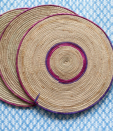 Set 3 Of Handwoven Rattan Placemats